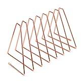 KETIEE Sujetalibros de Metal, Sujeta Libros, Sujetalibros Retráctiles Triangulares, Oficina Soporte Libros, Sujetalibros Infantil Escritorio, Decoración del Hogar (Oro rosa)