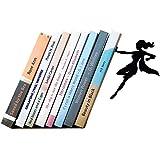 sujeta libros |'Supergal' | Sujetalibros de superheroína metálico en color negro | Sujetalibros únicos | Regalos para mujeres | Regalos para lectoras | Tope para libros original